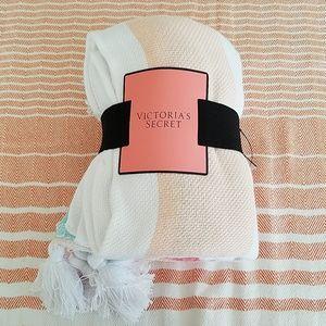Victoria Secret Pastel Striped Beach Blanket
